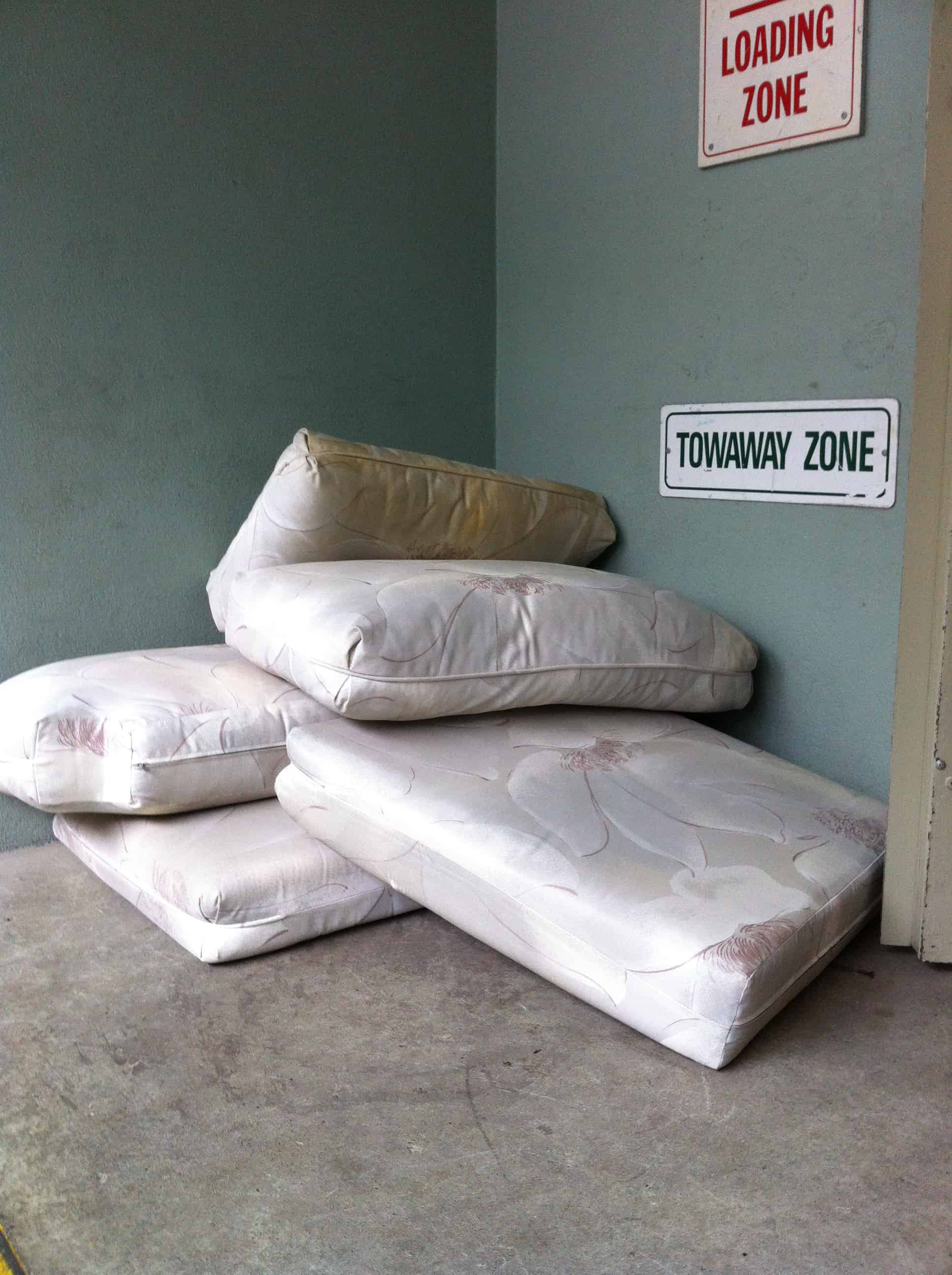 mattress boxspring couch desk sofa bed some yard waste green waste table kitchen cabinet. Black Bedroom Furniture Sets. Home Design Ideas