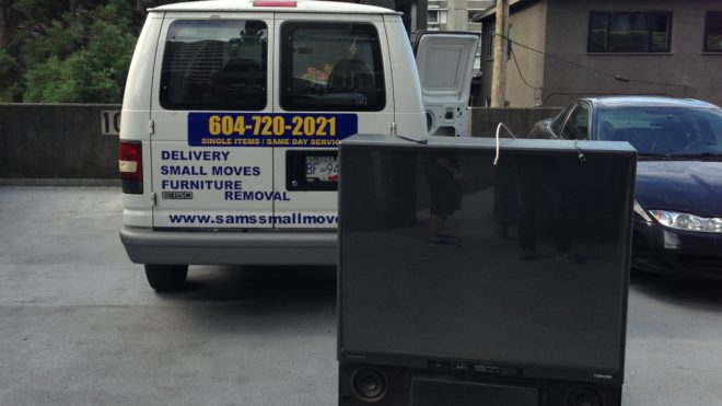 Big screen TV. TV removal and recycling | Vancouver