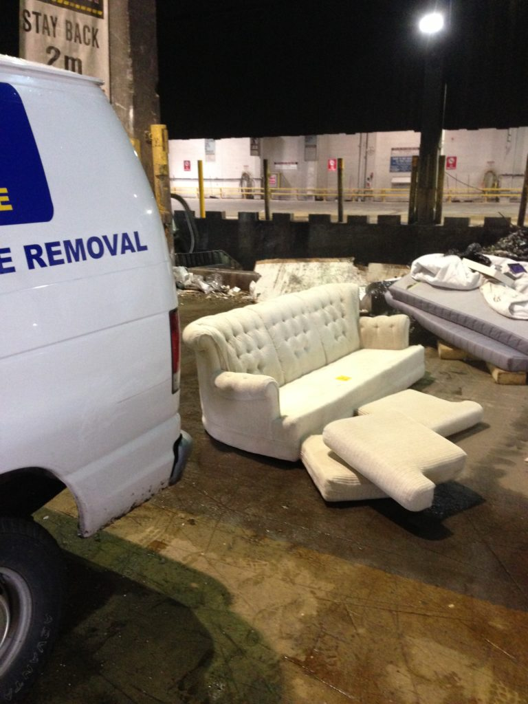 Junk Removal - Mattress / Box Spring Disposal in Vancouver. Ex. couch, sofa, loveseat, mattress, boxspring, bed, table, etc.